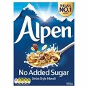 Alpen Muesli No Added Sugar 560gm