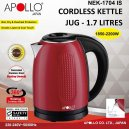 Apollo Cordless  Kettle 1.7L  (Nek 1704)