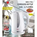 Apollo Cordless Kettle Jug 1.7Ltrs (Nek-1702)