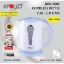 Apollo Cordless Kettle 1.0L  (Nek 1000)