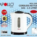 Apollo Cordless Kettle Jug 1.5 Ltr Nek-1500